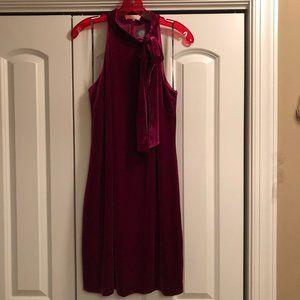 Vince Camuto Halter Bow-Neck Dress